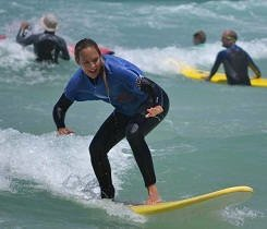 Principiante de surf