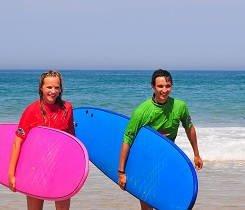 Trás la clase de surf Cantabria