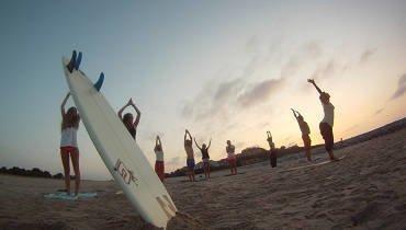 surf camp Spain: Yoga lesson