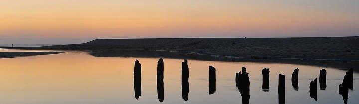 Sonnenuntergang in Moliets