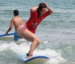 Surfer training - Surf camp Junior Moliets