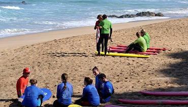 training en la playa