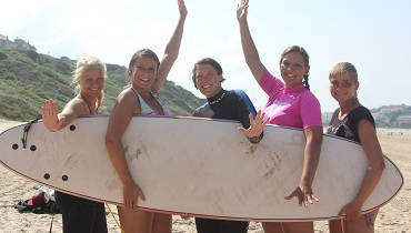 surf lesson Spain: Fun in the course