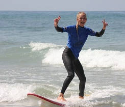 fist take off in the junior surf lessons