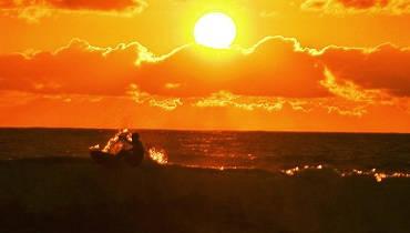 puesta de sol surf spot Cantabria