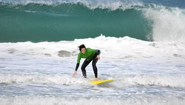 campamento de surf para familias