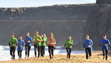 surf school Fuerteventura: warm up