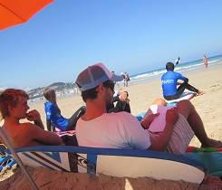 Pausa en la escuala de surf