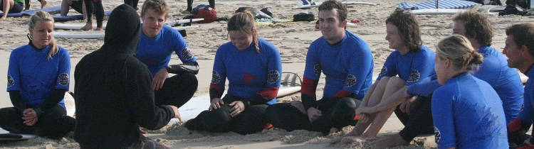 theoretical lesson surf school Moliets