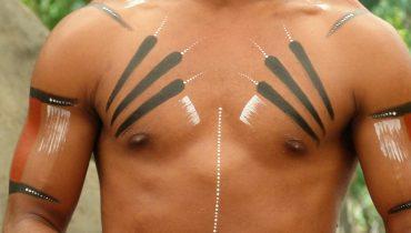 Aborigine-Körperbemalung