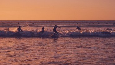 Sunset Surf in Le Pin Sec