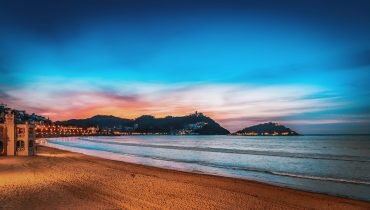 San Sebastián at Night