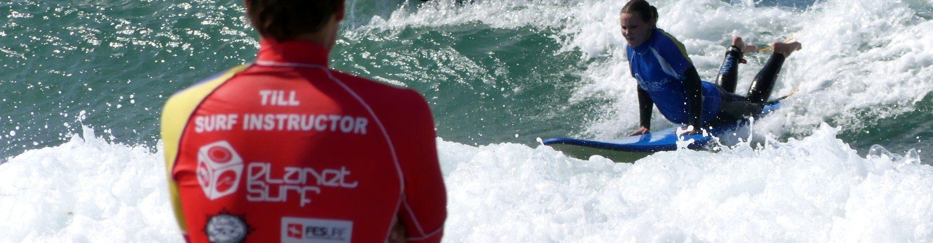 Surf Kurs Praxis in Spanien