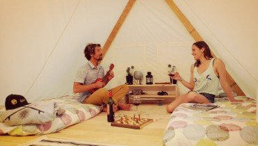 Unsere Glamping-Zelte in Le Pin Sec