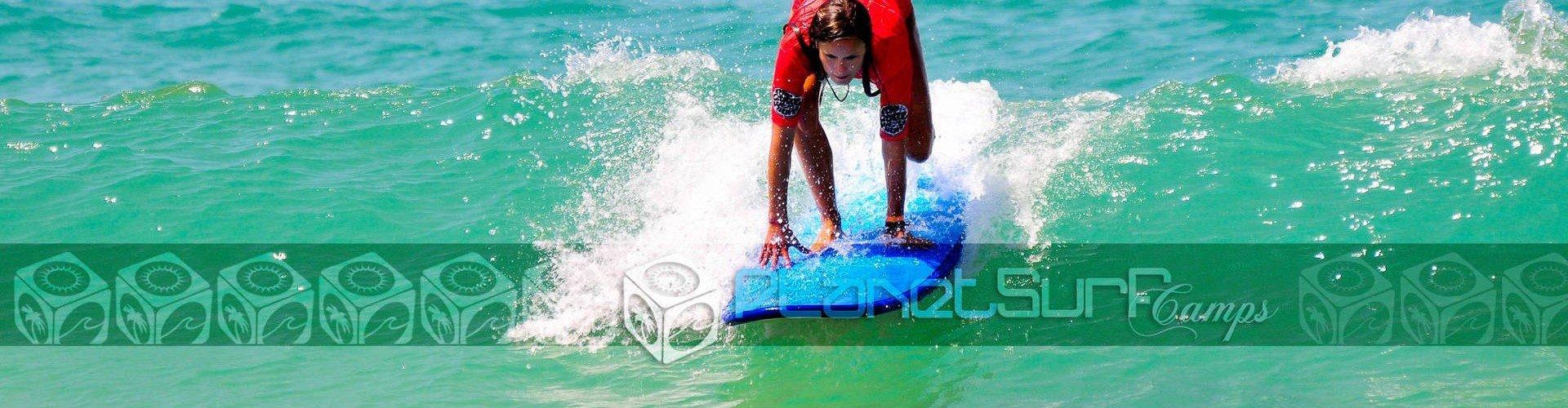Surfen mit herrlichem Wetter in Frankreich