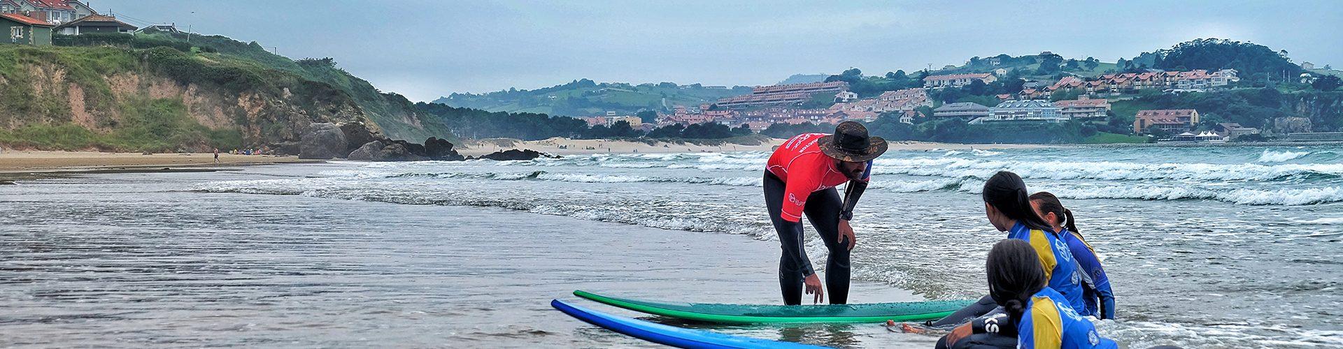 Surfen Praxis in Spanien