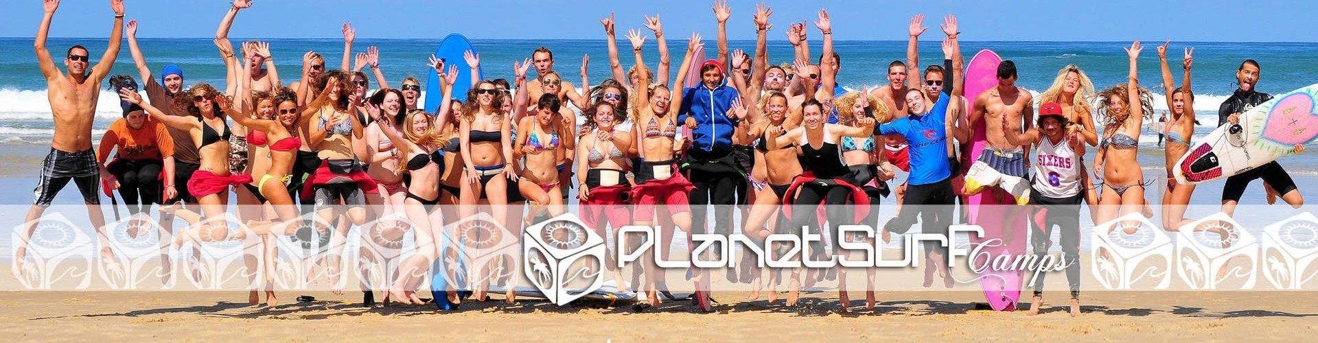 Planet Surfcamps natürlich Menschen in Le Pin Sec Strand