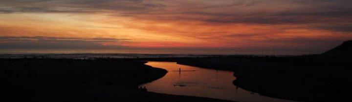 Surf spot sunset - Surf camp Junior Moliets
