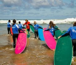 Surf course at beach - Surf camp Junior Moliets