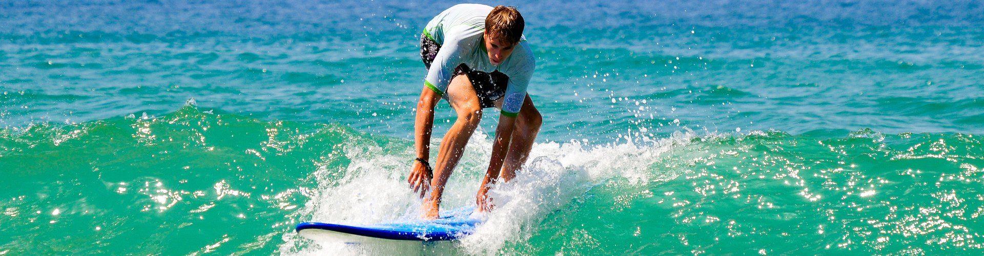 Bleiben Sie auf dem Tisch beim Surfen