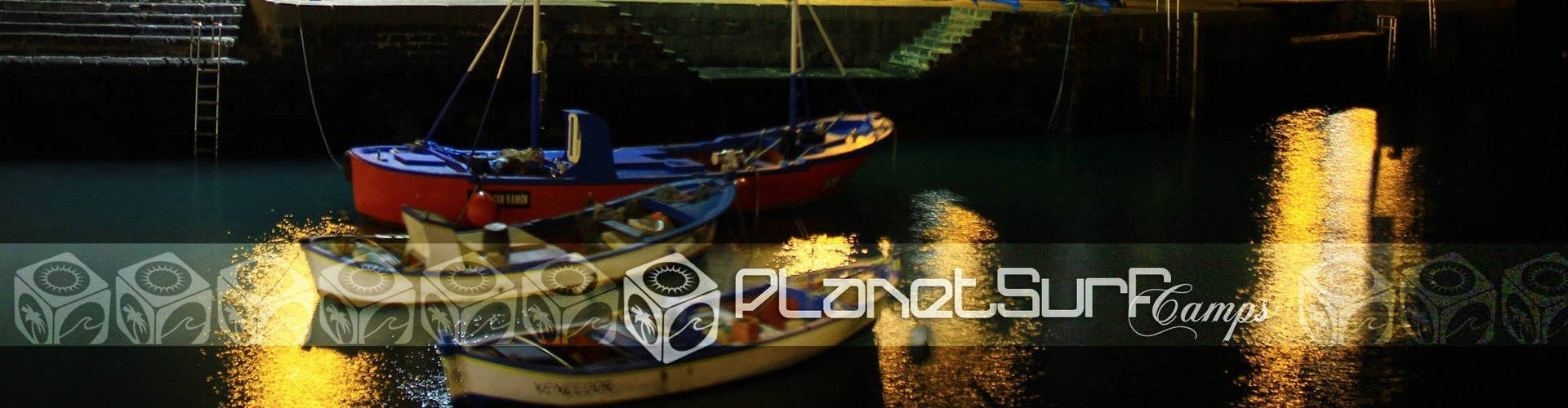 Kanarische Inseln Hafen Boote bei Nacht